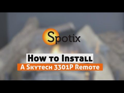 How To Install A Skytech Fireplace Remote Sky 3301p Installing