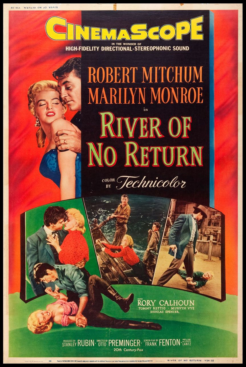 April 30 Opened On This Date In 1954 River Of No Return Filmplakate Westernfilme Flossfahrt