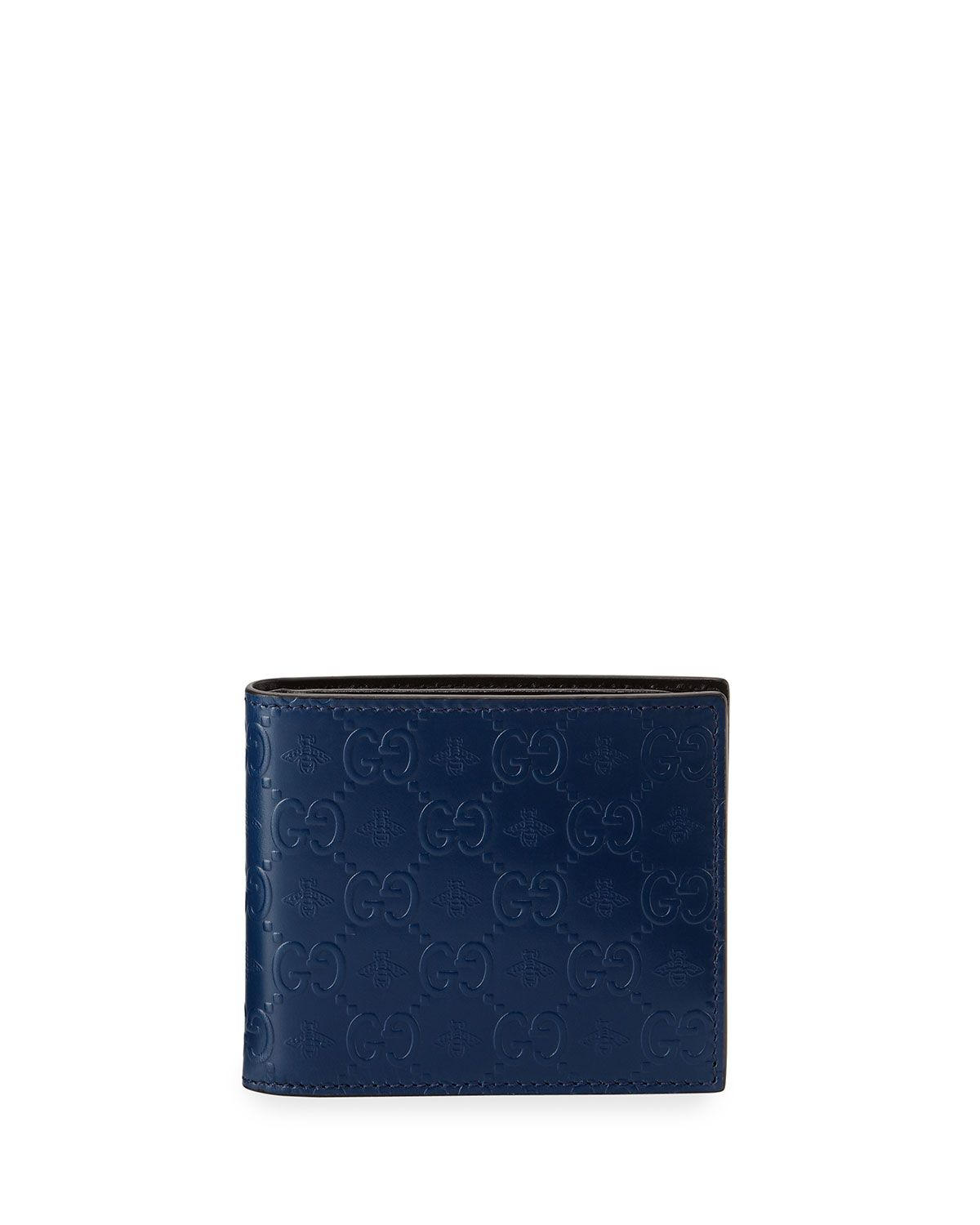 3e5ae1a044b Gucci Alveare GG Leather Bi-Fold Wallet