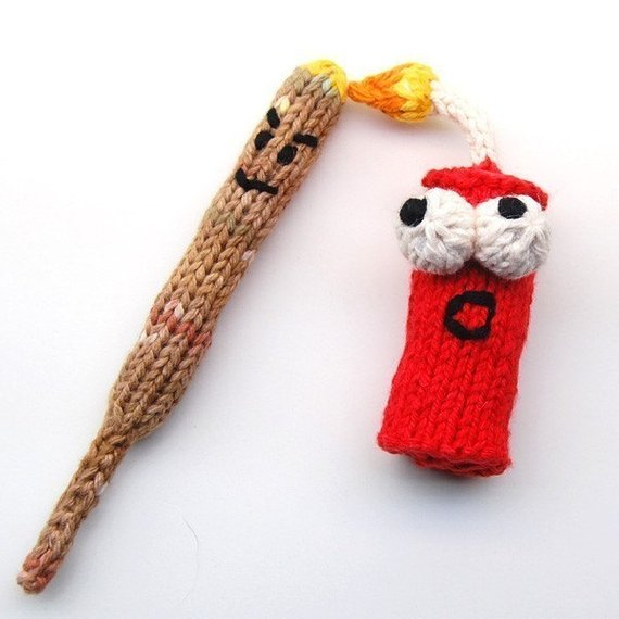 Punky and KaBOOM Firecracker Amigurumi Explosive Plush Toy Knitting ...