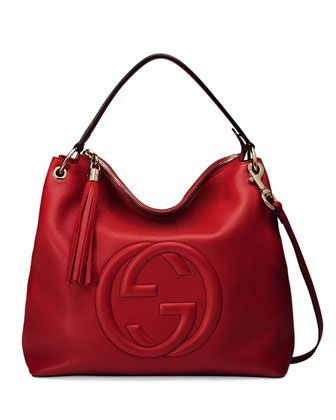 dce946936 Soho Large Leather Hobo Bag Red | Handbag Heaven | Leather hobo bags ...
