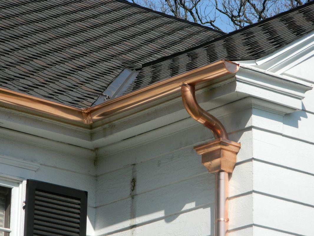 Http Www Mobilehomereplacementsupplies Com Coppergutteranddownspouts Php Has Some Info Regarding The How To Install Gutters Rain Gutter Installation Gutters