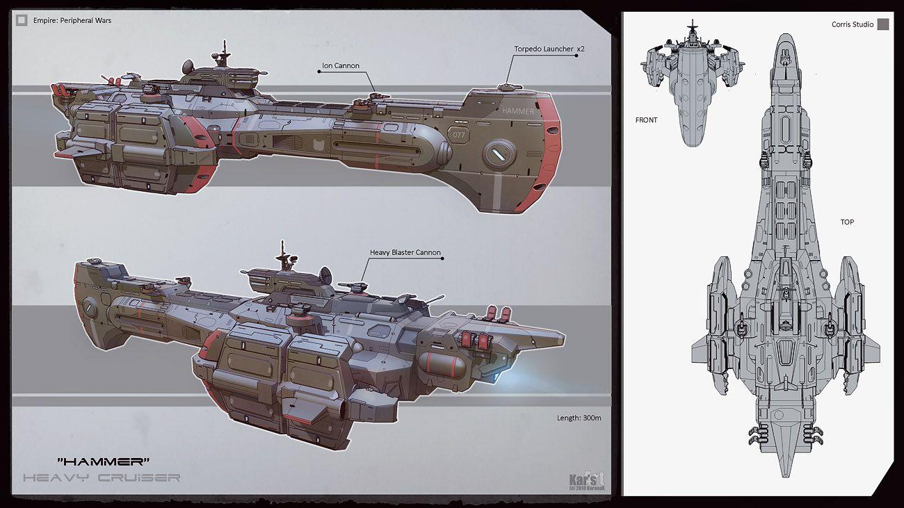 Heavy Cruiser Hammer by KaranaK.deviantart.com on @DeviantArt