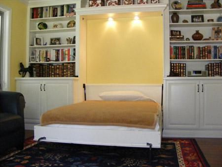 Full Murphy Bed in White - amazing, this would be so great in guest ...