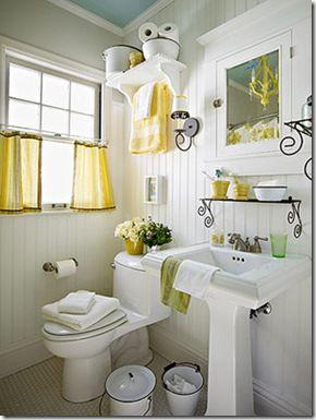 Muita mão de obra manter o banheiro assim, mas curti.