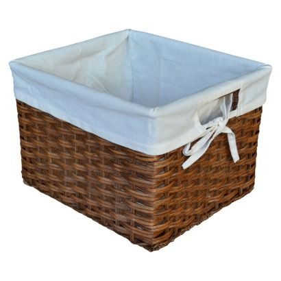 Baskets For The Bookshelf To Hold Books, Toys, Etc. Threshold™ Rattan Small