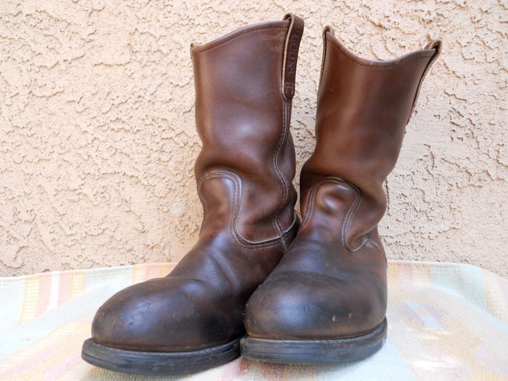 Original red wing brown leather 2214 pecos steel toe work