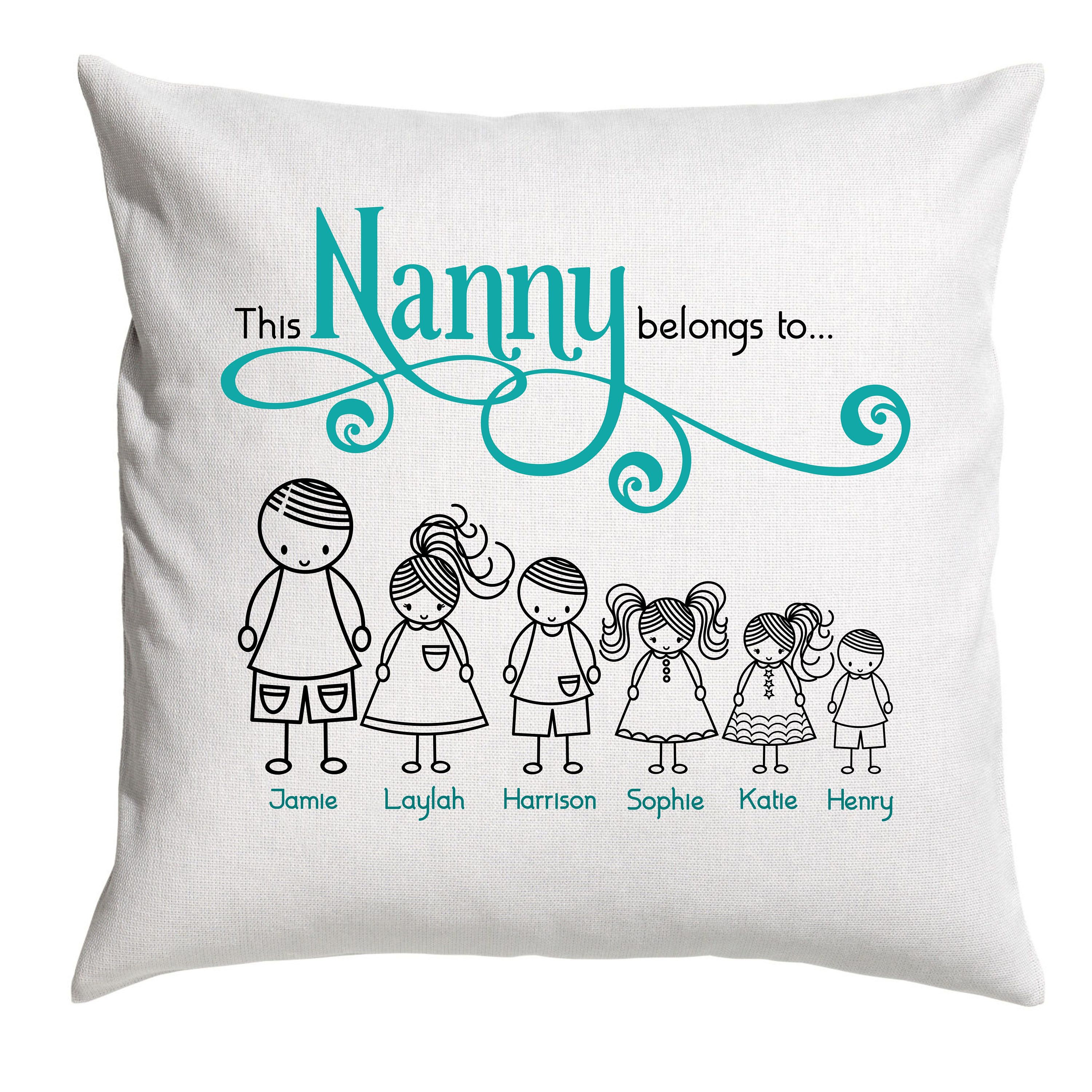 """Style 1 Personalised White Cushion 18/"""" Granddaughter Quotes"""