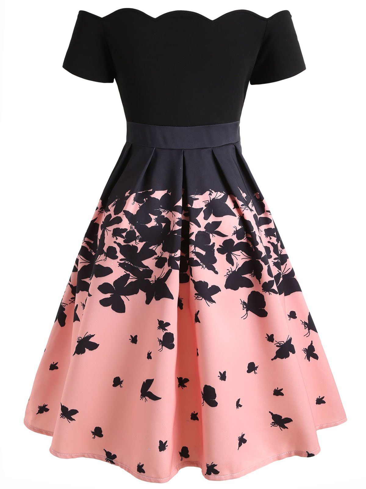 a886dddb4c7c Black 1950s Butterfly Swing Dress – Retro Stage - Chic Vintage Dresses and  Accessories