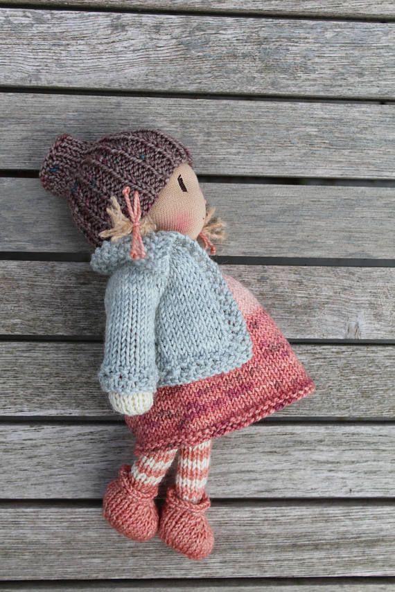 Waldorf doll, Waldorf knitted doll 8\