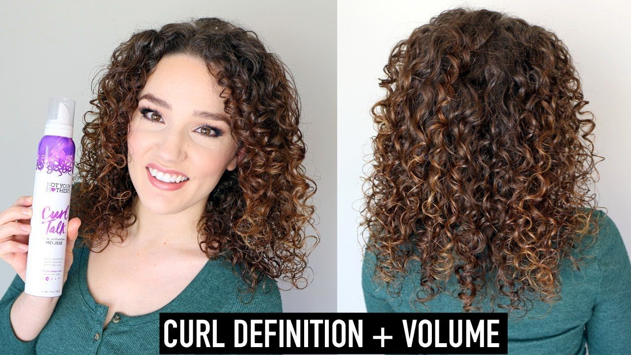 Not Your Mother S Curl Talk Mousse Review Routine Youtube Curly Hair Mousse Curls Curly Girl Method