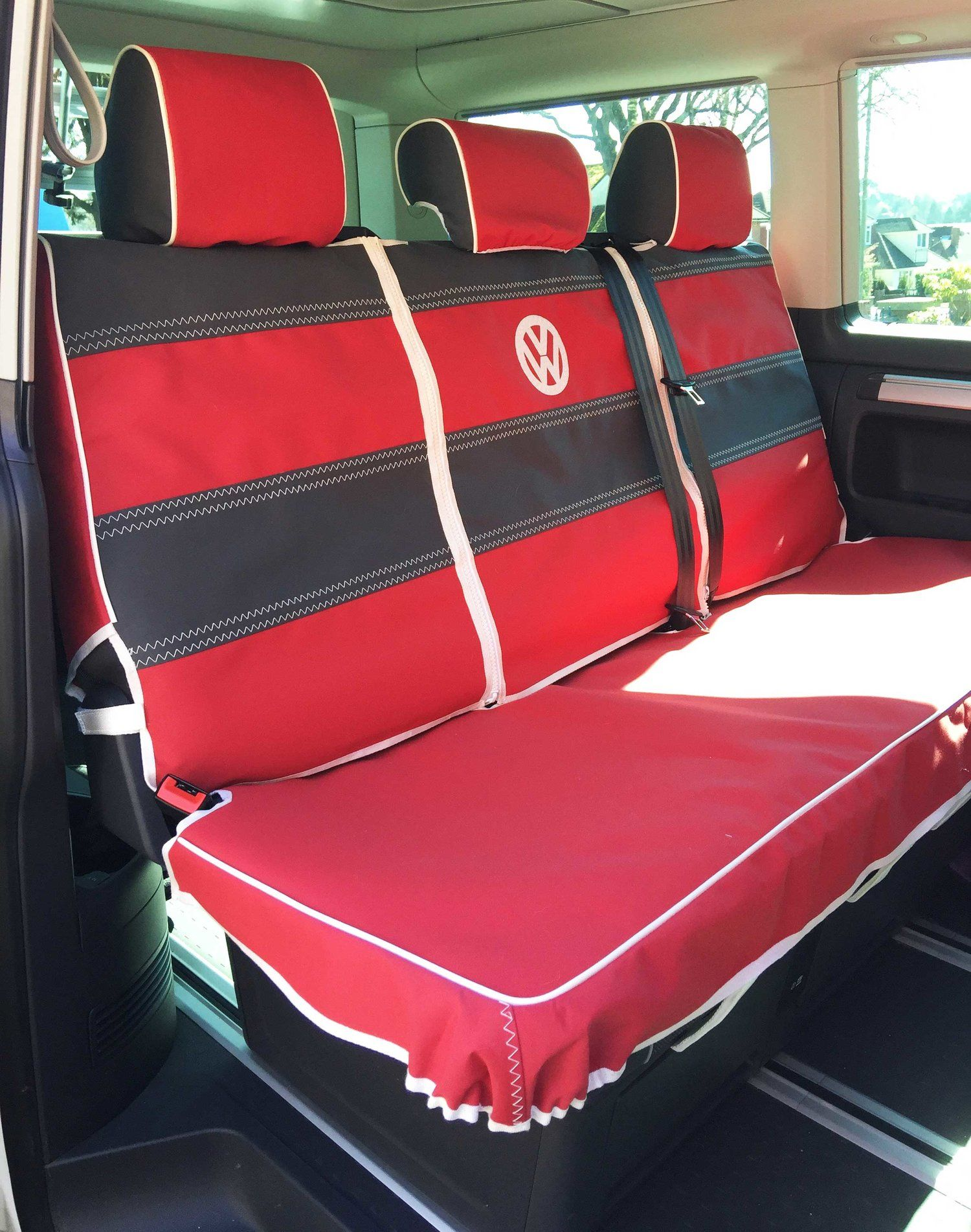 Vw California Beach Triple Rear Bench Seat Van Seat Covers Seat