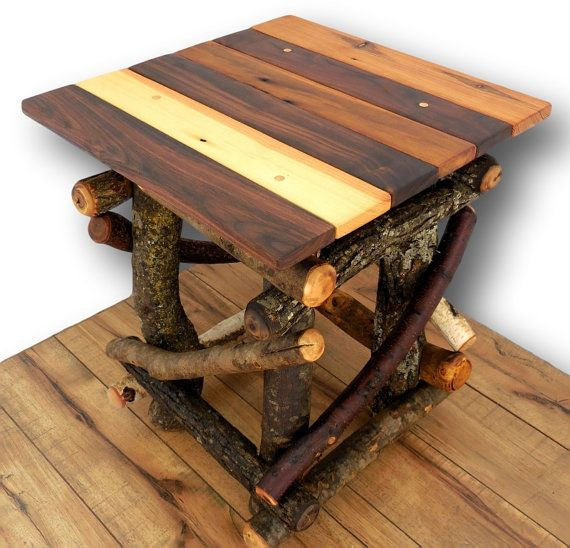 Good Rustic Wood Side Table Reclaimed Wood Table Rustic By WoodzyShop