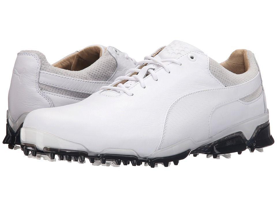 469485e5f2c3 PUMA Golf Titantour Ignite Premium Men s Golf Shoes White Glacier Gray Black
