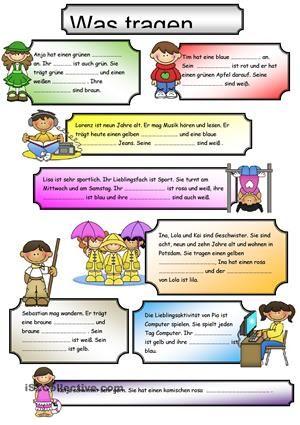 Kinder beschreiben - 3 verschiedene Aufgaben. - DaF Arbeitsblätter