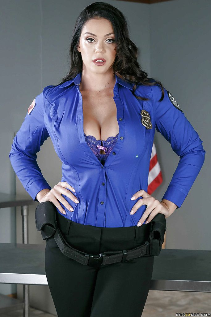 cop Busty blonde