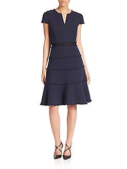aae99e2020bf Rebecca Taylor - Frayed Tweed Dress | Things to Wear | Tweed dress ...