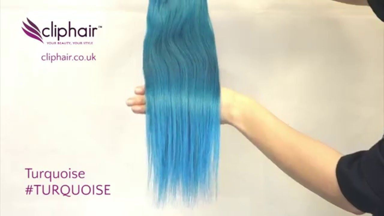 Shade Turquoise Hair Extensions See Product In This Video Https