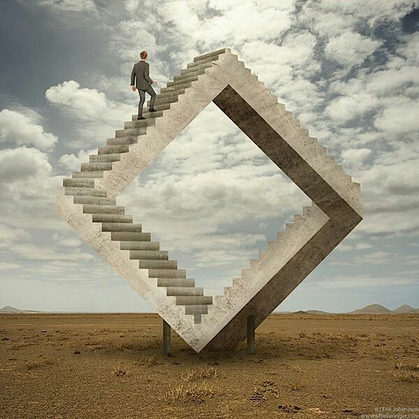 The Neverending Stairs Surreal Photo Manipulation Surreal