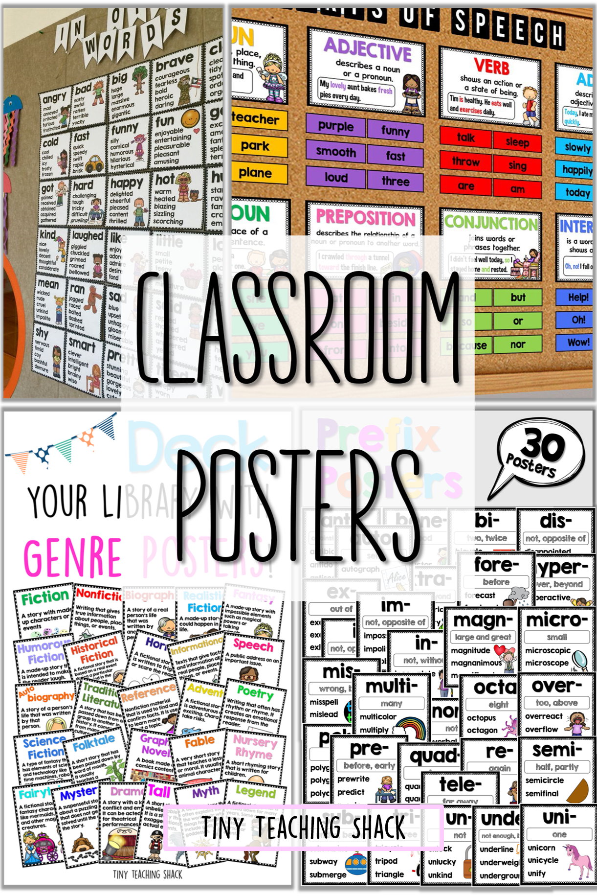 classroom posters- synonyms, antonyms, parts of speech ... - photo#9