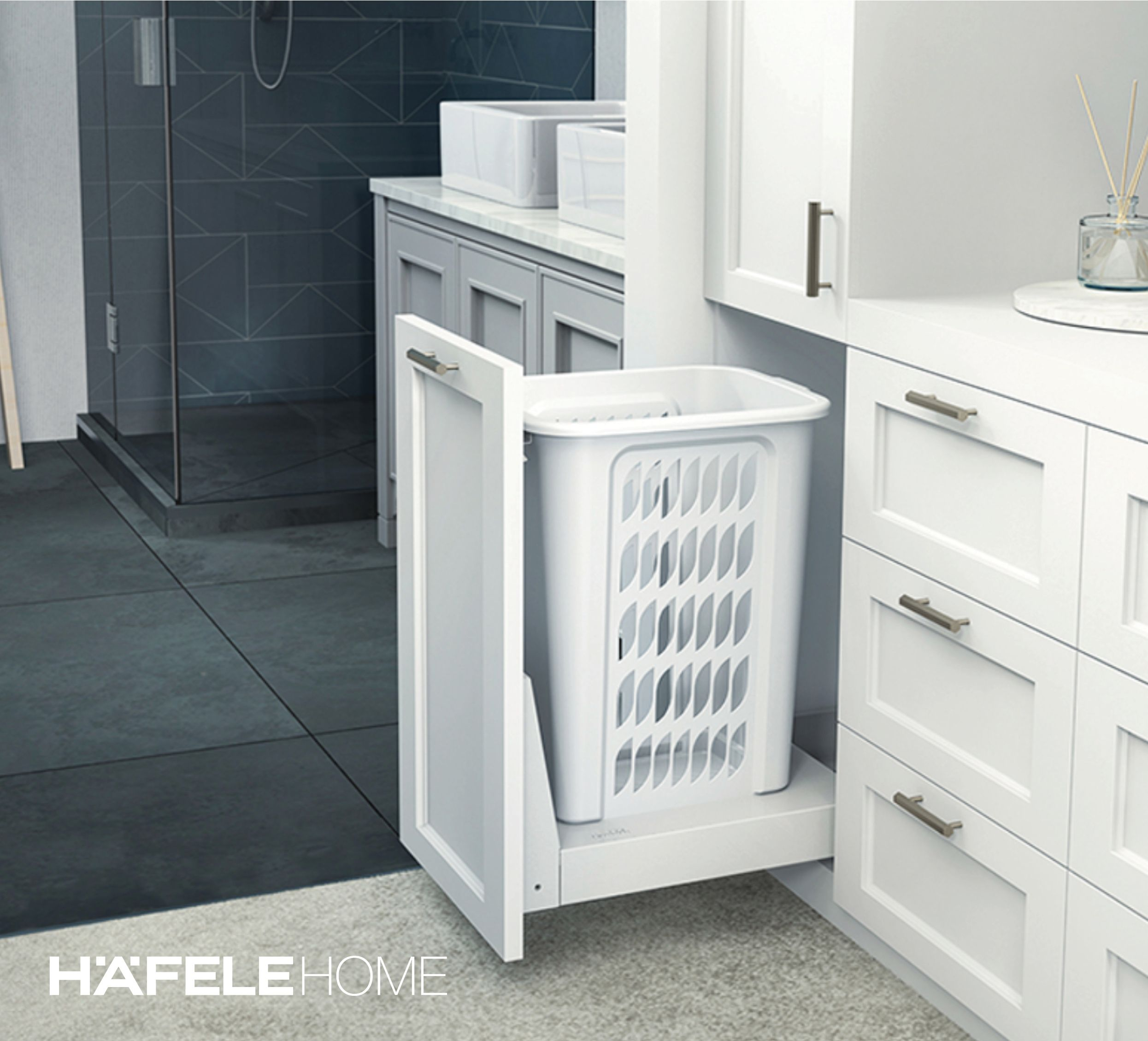 41+ Bathroom cabinet with laundry bin best