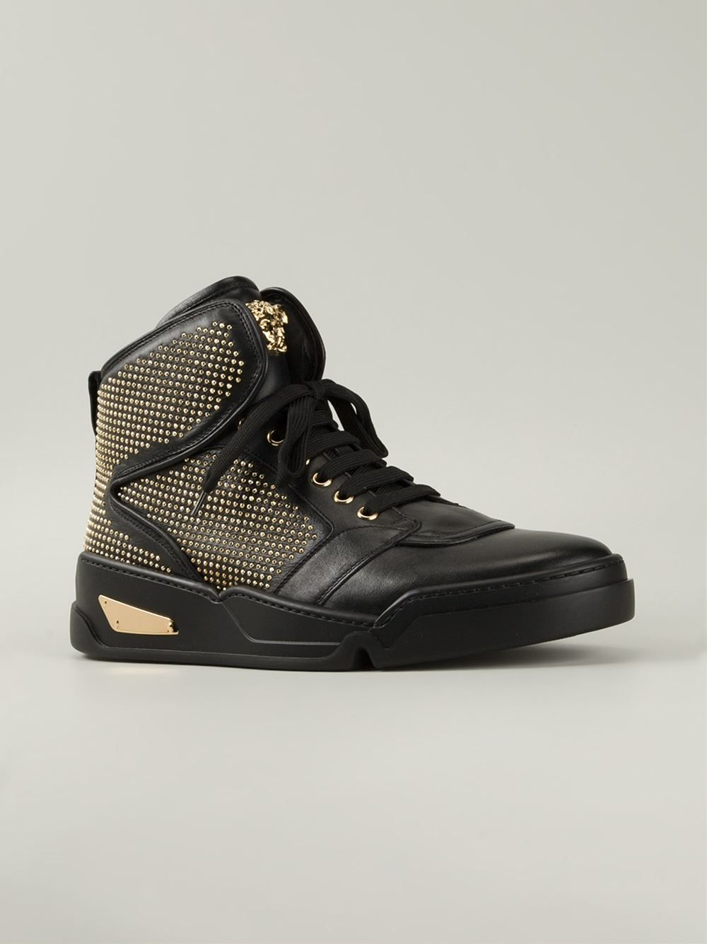 Versace Studded Hi-top Sneakers - Luisa Boutique  c2ce61e472532