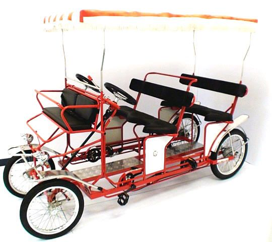 4 Wheel Bicycles Adult Tricycles Designed For Riding 2 People 4