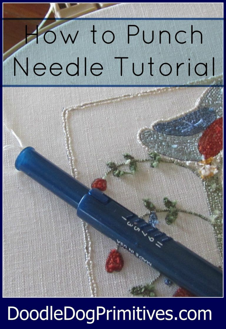 How To Punch Needle Series 1 Tracing The Pattern Punch