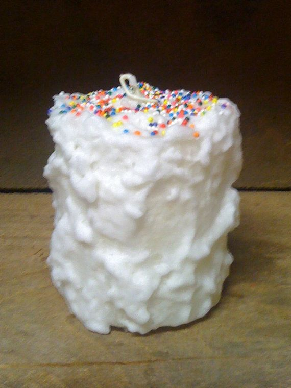 Chubby Pillar Candle Birthday Cake Scent by DebsCandlesandDreams