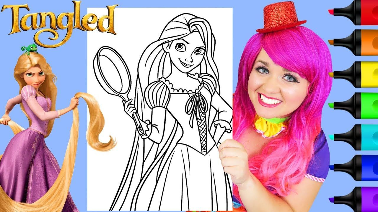 Coloring Rapunzel Tangled Frying Pan Coloring Page Prismacolor Markers Disney Princess Coloring Pages Disney Princess Colors Disney Coloring Pages