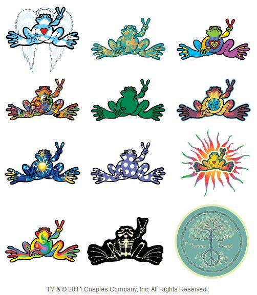 PEACE FROGS DOLPHIN  STICKER