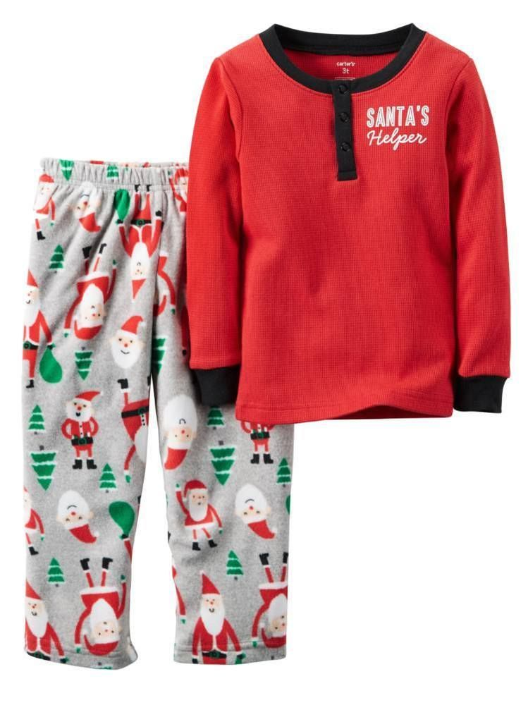 adc9ea49533b Carter s Boy s Christmas Santa s Little Helper Holiday 2 Pc Pajama ...