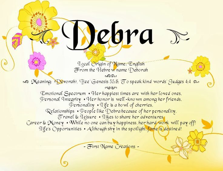 Image result for meaning of debra