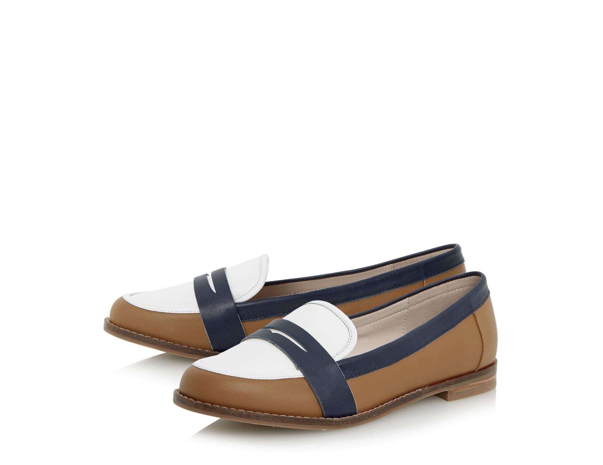 DUNE LADIES GUAPO - Round Toe Leather Penny Loafer - tan | Dune Shoes Online