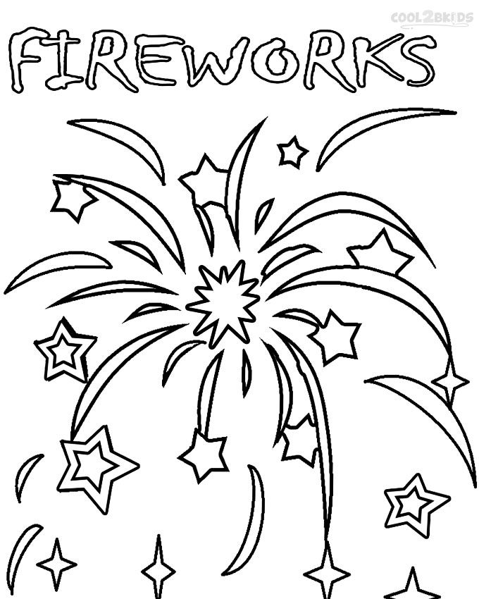 Printable Fireworks Coloring Pages For Kids | Cool2bKids ...