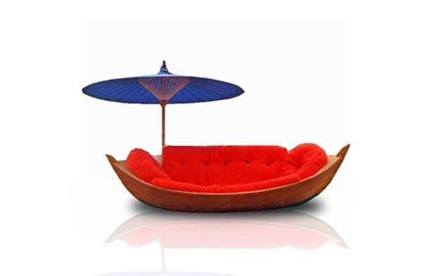 Boat Sofa With Parasol   This Sofa Was Made For The Conran Shop And Not  Only Did It Look Nautical, It Actually Floated .... Aah I Love This Seat