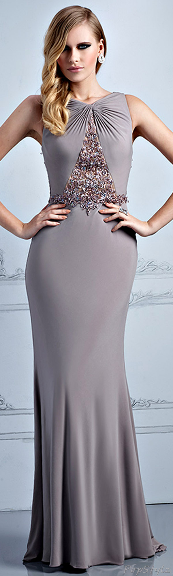 Terani Couture Taupe Dress | If I were skinny Boots;) | Pinterest ...