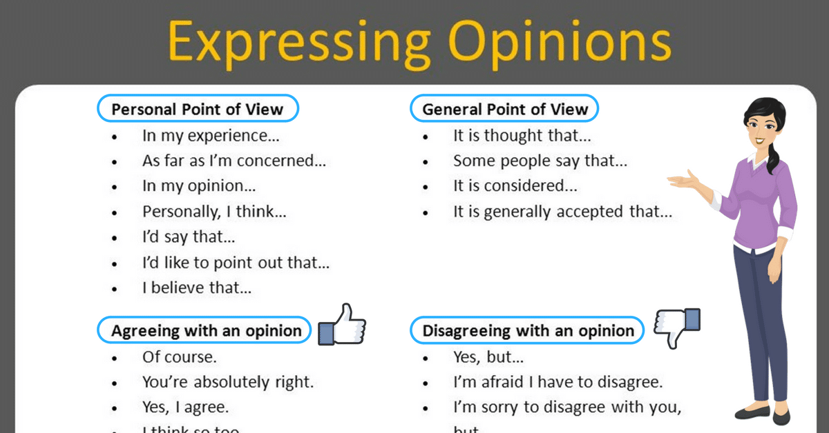 How to Effectively Express Your Opinion in an Argument