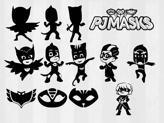 PJ Masks SVG Bundle Clipart Pj Cut Files