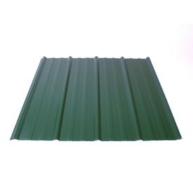 Shop Fabral 5 Rib 3 14 Ft X 8 Ft Ribbed Steel Roof Panel At Lowes Com Building Corrugated Metal Roofing Sheets Metal Roof Steel Roof Panels