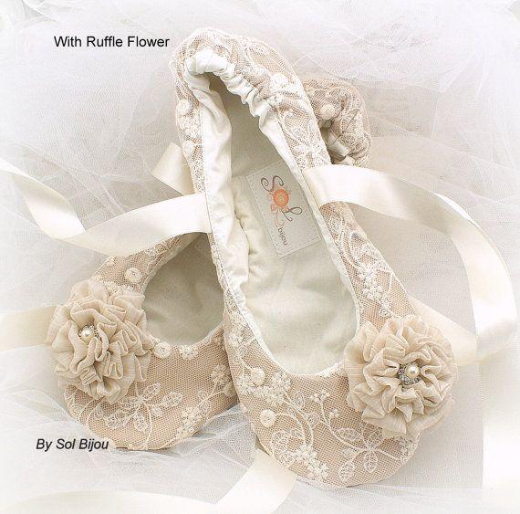 Ballet Flats, Wedding, Bridal, Shoes, Flats, Lace up, Ballerina ...