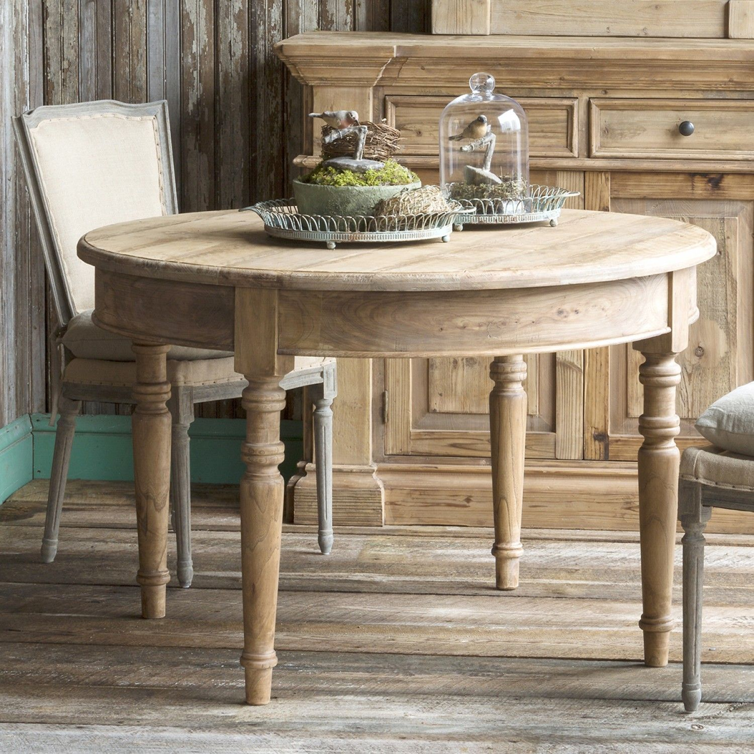 Rustic Round Dining Table ParkHill thebellacottage