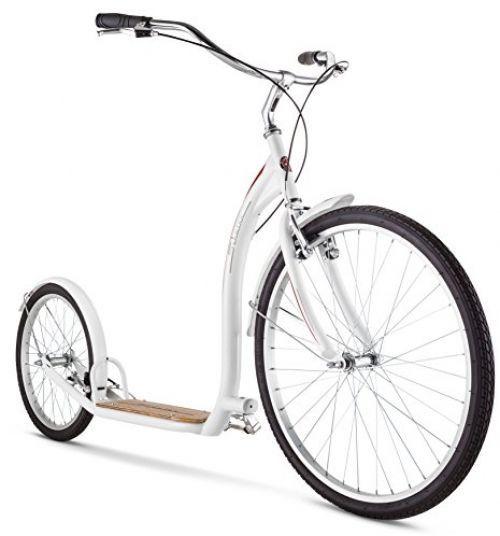 Schwinn Adult Shuffle Scooter With 26 Wheels White 16 X2f