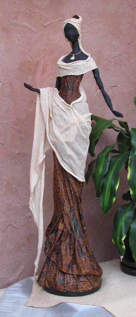 Paverpol Sculpture Papiermache Plastic Art Textile