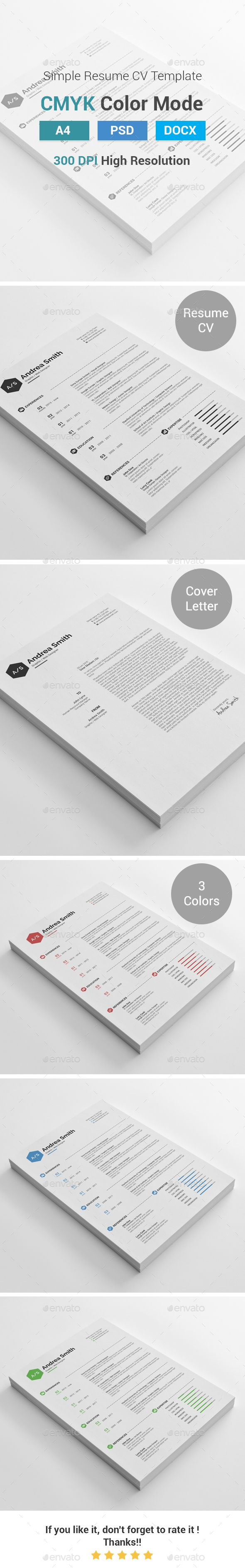 Simple Clean Resume Cover Letter Resume Cover Letters Simple