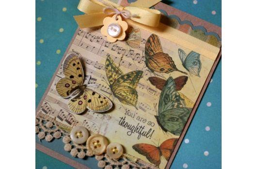 Glitz Design-Butterfly card