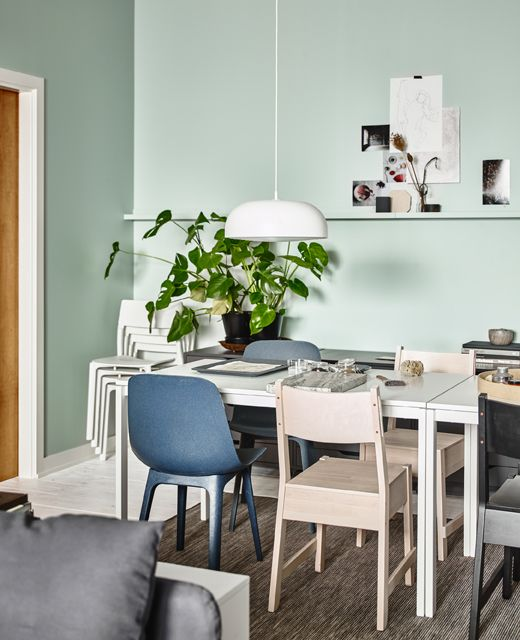 Create A Big Dining Table For Your Living Room Just Push Two Tables Together Ikea Has A Lot Of Tables Suc Big Dining Table Ikea Dining Sets Ikea Living Room