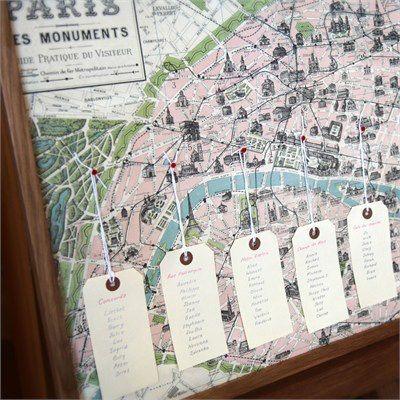 Gira esta ideia de colocar um pin na zona ou monumento escolhido para nome das mesas!