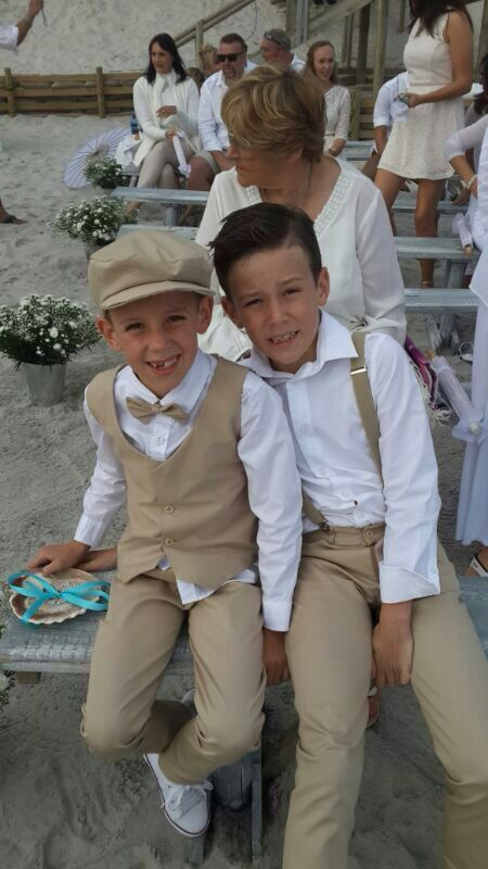 Ring Bearers For A Beach Wedding, Nude Suit, Waistcoat -3118