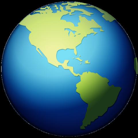 Earth Globe Americas Emoji | Earth globe, Earth, Globe